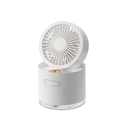 sulemaoyi0708 Una máquina, múltiples propósitos, Niebla fría, Fresco, almacenado, Plegable, Ventilador portátil de Escritorio con luz Nocturna, Aire Acondicionado pequeño (Color : Green)