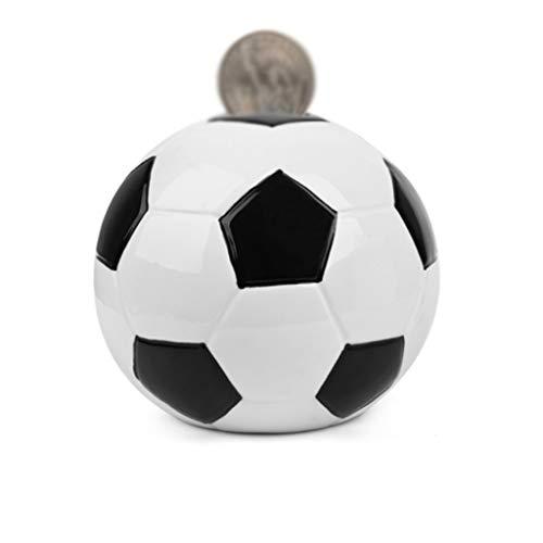 WPBOY Bola Hucha Cerámica Moneda Tendencia Personalidad Caja De Dinero Deportiva Regalo De Cumpleaños para Niños (Color : Medium Football)