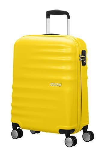 American Tourister Wavebreaker Spinner 55/20 Bagaglio a Mano, Sunny Yellow, 36 ml, 55 cm