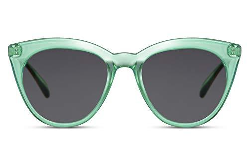 Cheapass Zonnebrillen Rond Groot Cateye Vlinder Fashion Mode Stijl Transparante Kleuren voor Dames UV400 bescherming