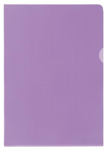 25x Elba Sichthülle Dokumentenhülle Premium A4 PVC glasklar rot transparent
