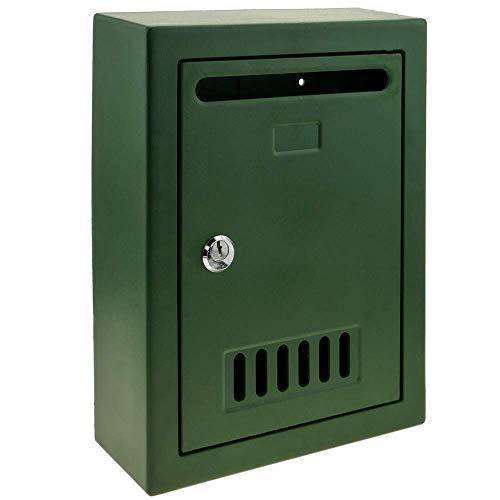 PrimeMatik - Briefkasten Postkasten Kunststoff grün Farbe für wallmount 205x80x273mm