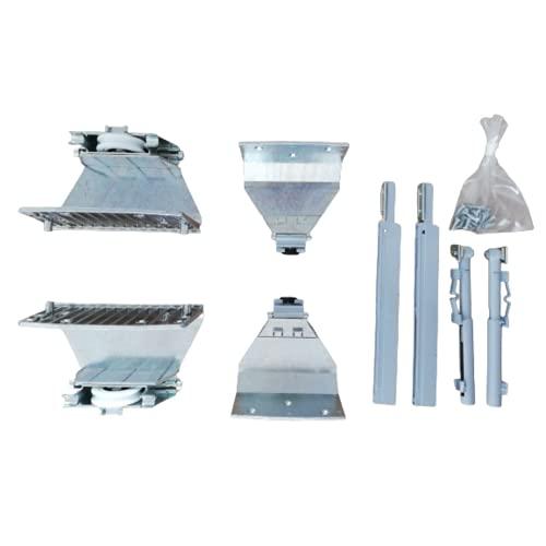 Kit de sustitución de ruedas para armario deslizante – Carro   herramientas Sistema 4 IndAUX 700.775.106-700.765.100 (Kit de herramientas para puerta exterior)