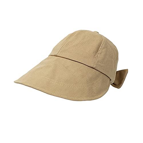 KFGF Cappello da sole coreano All Match, cappello da sole e cappello da sole da donna, alla moda e bello, con spalline e tesa ingrandita, adatto per la primavera e l'estate, cachi, 54/58 cm