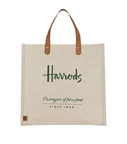 Harrods Embroidered Jute Grocery Shopper Bag ID 5719511