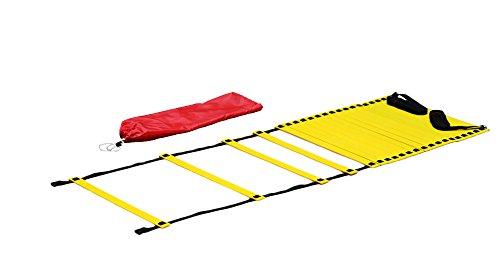 Boje Sport - Koordinationsleitern für Fußball in gelb, Größe Länge: 9 m, Breite: ca. 50 cm