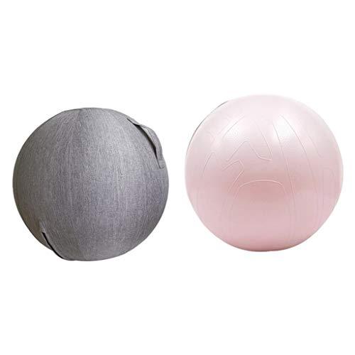 sharprepublic Pilates Ball Yogaball Pilateball Gymnastikball Massage Ball mit Bezug für Beckenübungen, Stärkung der Bauchmuskulatur
