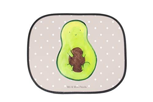 Mr. & Mrs. Panda Auto Sonnenschutz Avocado mit Kern - Avocado, Avokado, Avocadokern, Kern, Pflanze, Spruch Leben Sonnenschutz, Auto, Sonnenblende, Fenster, PKW, Kinder, Familie, Geschenk, Rücksitz
