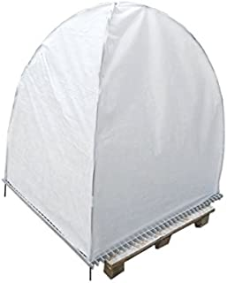 Agfabric Raised Bed Cover - Garden Netting Mesh - with Foldable Fiber Glass Hoops Frame - Length 4'x Width 4'x Height 6' - White