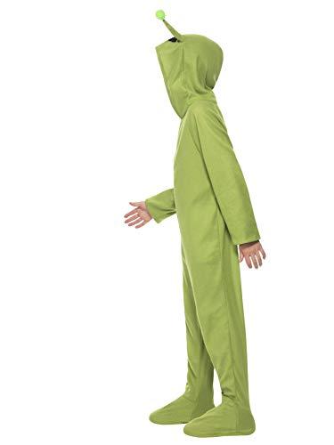 Smiffys Costume Alieno, Verde, comprende Tutto in uno con cappuccio