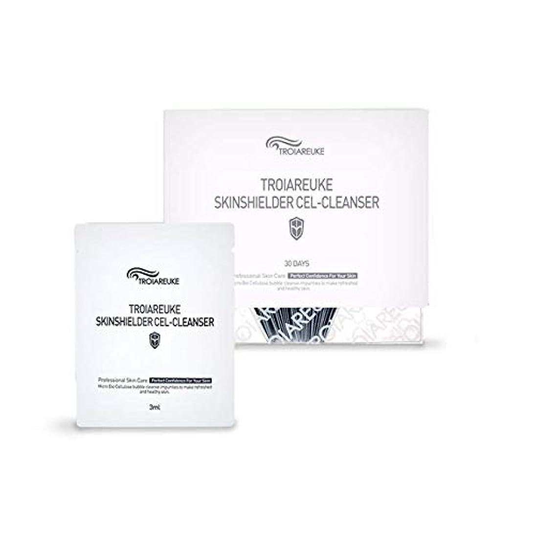 後方に広告主粉砕するTROIAREUKE (トロイアルケ) スキン シールダー セル クレンザー  / Skinshielder Cel Cleanser (30ea) [並行輸入品]