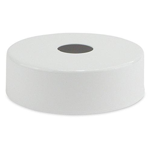Großer Lampen Baldachin in Metall weiß Ø 10 × H 3,1 cm - Abdeckung für mehrere Hängelampen Öffnung - Ø 2,6 cm
