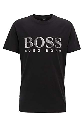 Boss T-Shirt Rundhals UV Protection, Nero (Black 007), Medium Uomo