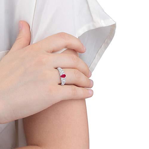 Morellato Anello da donna, Collezione Tesori, in argento 925‰, rubino sintetico, zirconi, bianco - SAIW42014
