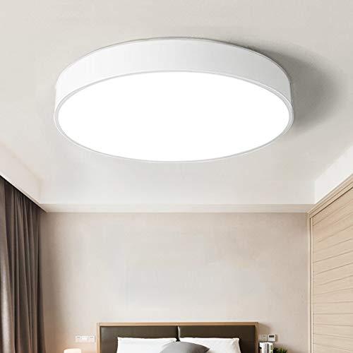 36W Deckenleuchte LED Deckenlampe Warmweiß 3000K ultra dünne Leuchte für Kinderzimmer Wohnzimmer Küche Schlafzimmer Flur Büro 50 * 50 * 5cm (Weiß)