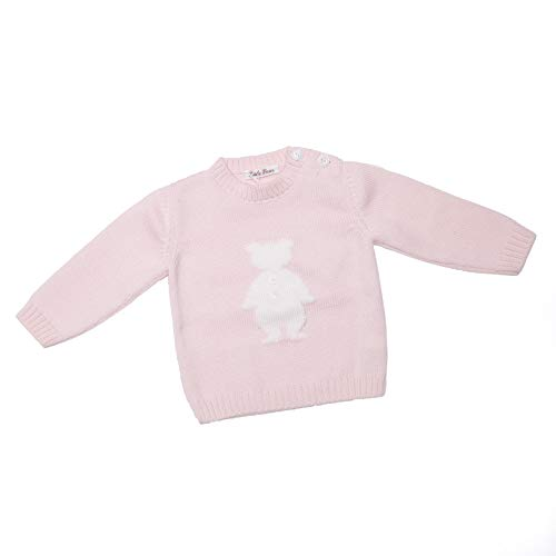 LITTLE BEAR Pull en Laine pour bébé garçon et Fille - Rose - 6 Mois