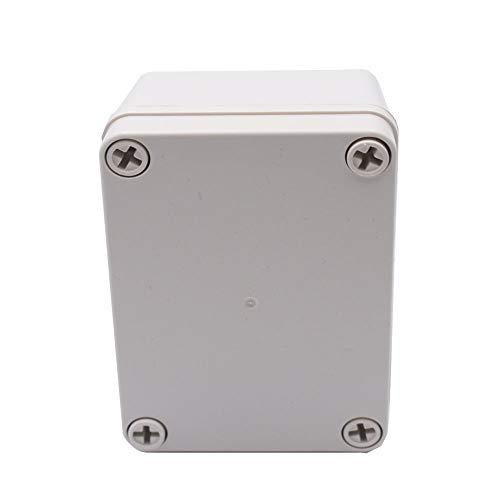 Anschlußdose, Elektrogehäuse Anschlussdose, Wasserdichte ABS Plastik elektronische Gehäuse Box für Kabelverbindungen, Elektrisches Projekt (110 x 80 x 70 mm)