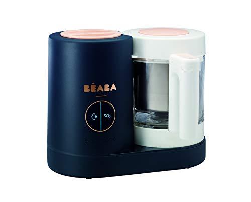 Béaba Babycook Neo Robot da Cucina, frullatore, Vaporiera e Dispositivo di Cottura Rapida in 15 Minuti, Contenitore in Vetro e Corpo in Acciaio Inossi