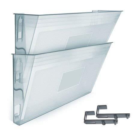 Acrimet Wand Prospekthalter (2 Stück) (Transparent Kristall)
