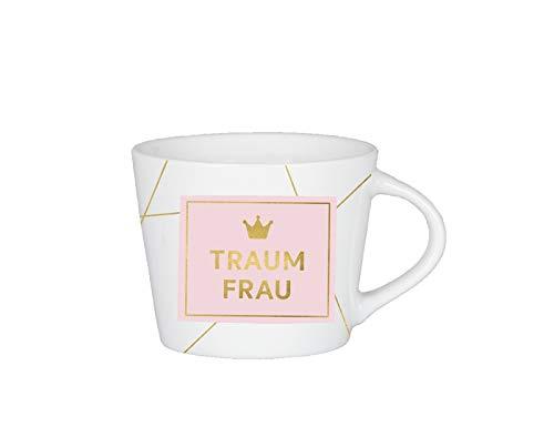 Grafik-Werkstatt Premium-Tasse, Traumfrau, Espresso Tasse, Goldveredlung