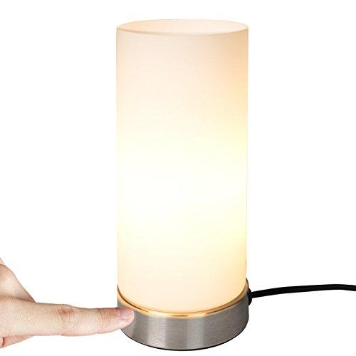 Jago® Tischlampe mit Dimmer Touchfunktion - EEK: A++ bis E, 1er Set, E14, dimmbar - Nachttischlampe, Nachttischleuchte, Bürolampe - für Wohnzimmer, Schlafzimmer, Kinderzimmer