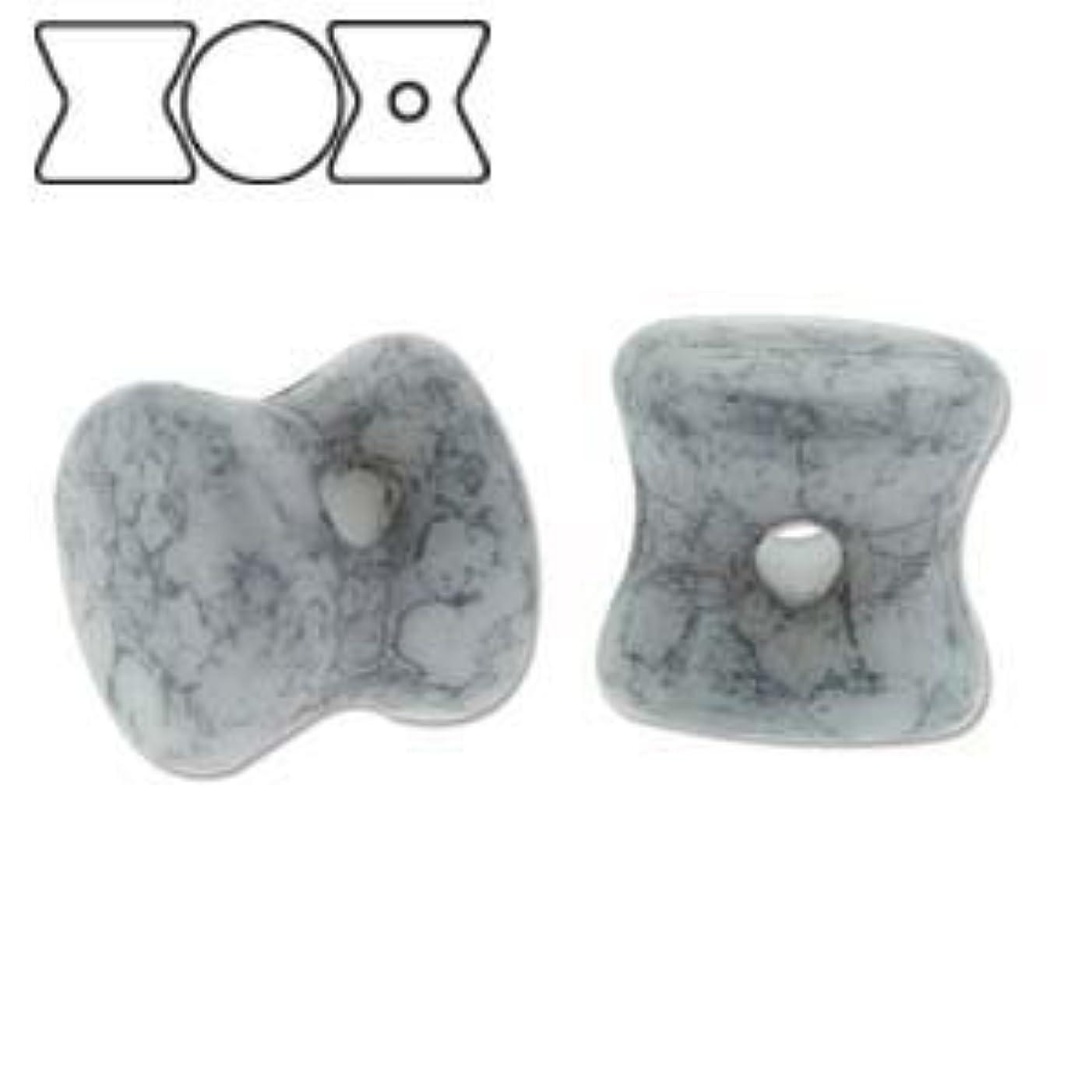 Czech Glass Pellet Beads 4 x 6mm Chalk White Trct Blue (30)