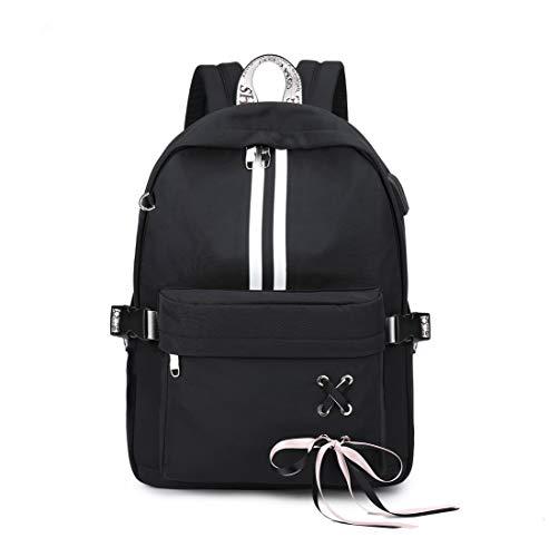 Joymoze Classic Backpack for Women Stylish School Backpack for Teen Girl Black