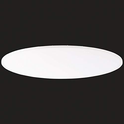 Katina LED Panel Deckenleuchte per Fernbedienung stufenlos dimmbar, RGB-Hintergrundbeleuchtung, Ø75cm, 60 Watt, 5000 Lumen, 2700 (warmweiß) bis 6500 (kaltweiß) Kelvin in weiß
