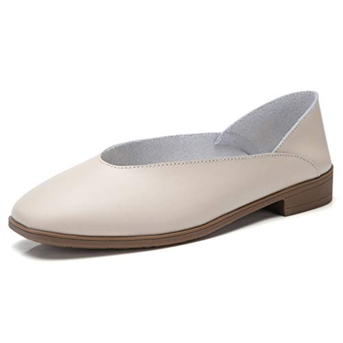Dames slippers met lage hak, zonder veters, vrijetijdsschoenen, bootschoenen.