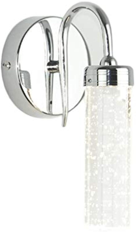 LED Wandleuchte, Scheinwerfer Bett Kristall Gang Balkon Treppe Einzelkopf Modern Einfach Lampe (Farbe   Neutral)