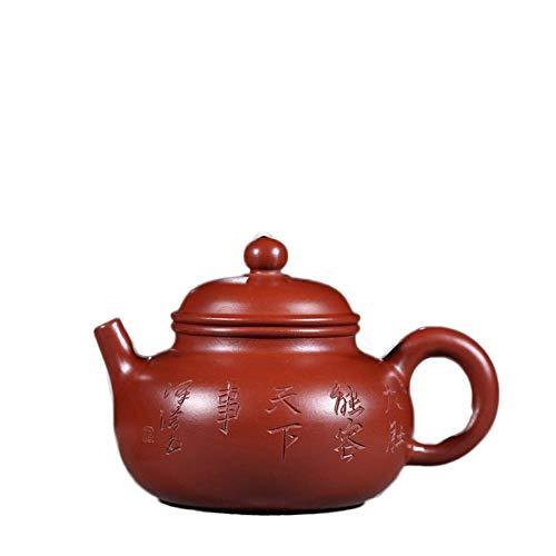 Yadianna Electronic Multimeter Yixing Handmade Teapot Dahongpao Rongtian Teapot Lettering Bubble Teapot Tea Maker Sand Pot (Color : Big pink pouch)