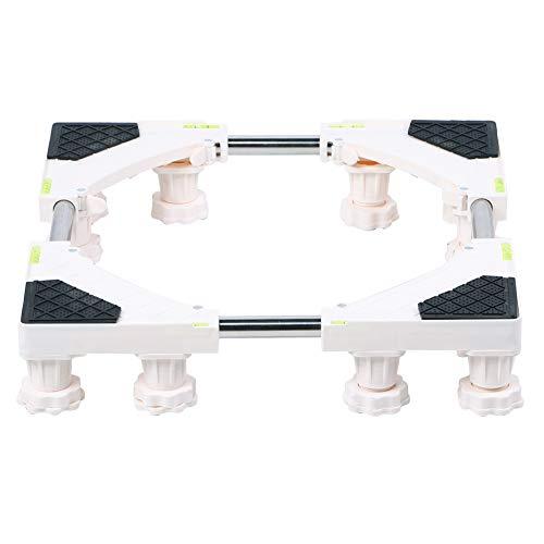 Kylskåp, rostfritt stål Rullstativ Stor lagerkapacitet med inbyggd nivå underlättar för tvättmaskin kylskåp