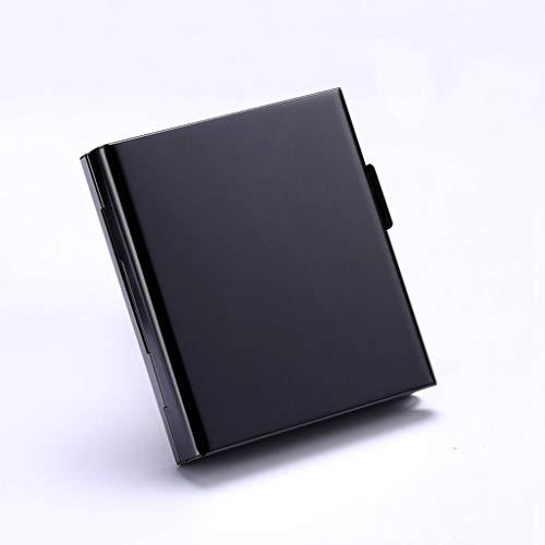 Leaptech Zigarettenetui Lagerung für 20 Zigaretten Halter Zigarettenschachtel zigarettenhülle zigarettendose Double Sided Flip Open Pocket-Zigarettenetui Storage Container Geschenke (Black)