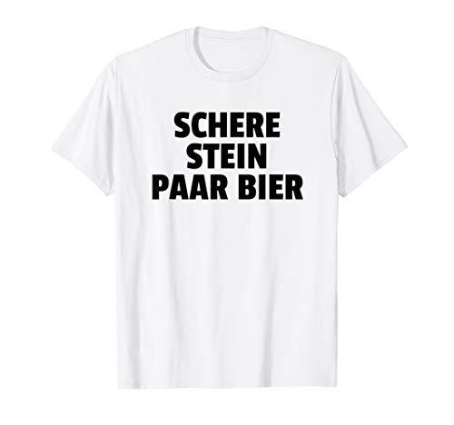 Schere Stein Paar Bier T-Shirt