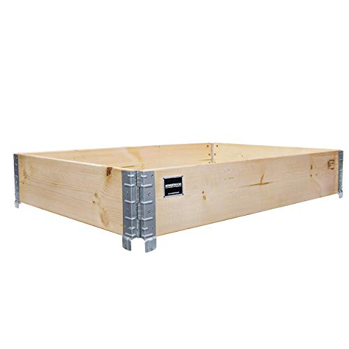 Schroth Home Hochbeet 120x80x20cm rechteckig - Palettenrahmen aus Holz - Hochbeet für Garten - faltbar