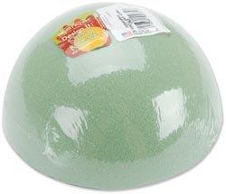 Styrofoam Floracraft Dry Foam Half Ball 6 inch x 3 inch 1 Pack Green FOBA6HB (3-Pack)