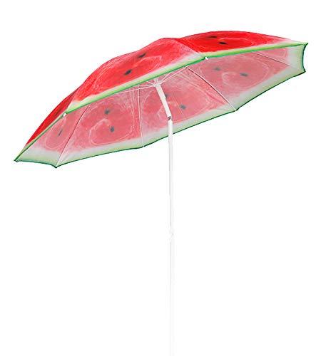 Strandschirm Sonnenschirm Strand Schirm Sonnenschutz Gartenschirm Sonnenschutz knickbar Polyester Modell Melone grün 1,80m UV Schutz