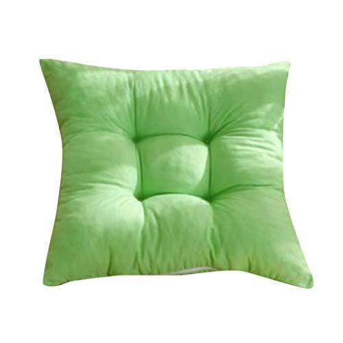 Stuhlkissen Matratzenkissen Bodenkissen Sitzkissen Stuhl Polster Auflage 40 x 40 cm - Grün