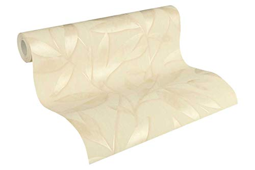 A.S. Création Vliestapete Siena Tapete floral 10,05 m x 0,53 m beige creme metallic Made in Germany 328806 32880-6