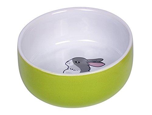 """Nobby Nager Keramik Napf """"Rabbit"""" grün/weiß Ø 11cm x 4,5 cm"""