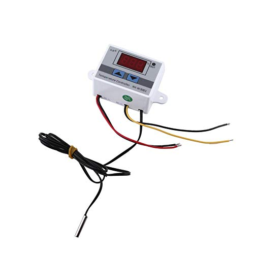 Digitaler Thermostat, 12V Hochpräziser digitaler Thermostatschalter mit Temperaturregler und Fühler
