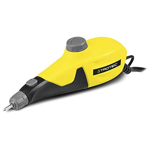 TROTEC Graviergerät PEGS 10-230V für Metall, Keramik, Leder, Glas, Schmuck, Holz oder Kunststoffe inkl. 4 Gravierschablonen elektrisch