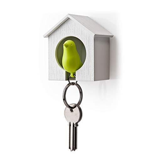 Vektenxi Kreative Schlüsselhalter Vogelhaus Keychain Sparrow Whistle Schlüsselanhänger Halter für den Heimgebrauch 1 Stück Neu Freigegeben