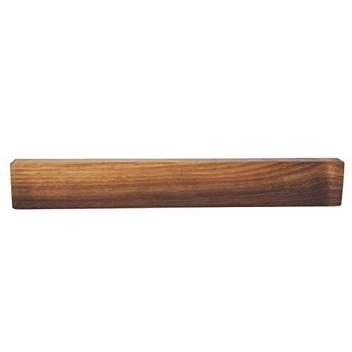 Rasch Design Messerhalter magnetisch | gerade | Buche, Ahorn, Eiche, Kirsche oder Nussbaum Massivholz | Magnethalter aus Holz ohne Messer (Nussbaum, gerade, 35cm)