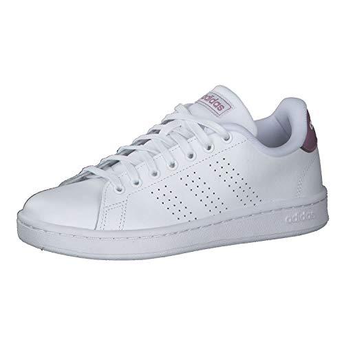 adidas Advantage, Scarpe da Tennis Donna, Bianco Ftwbla Ftwbla Cermet, 37 1/3 EU