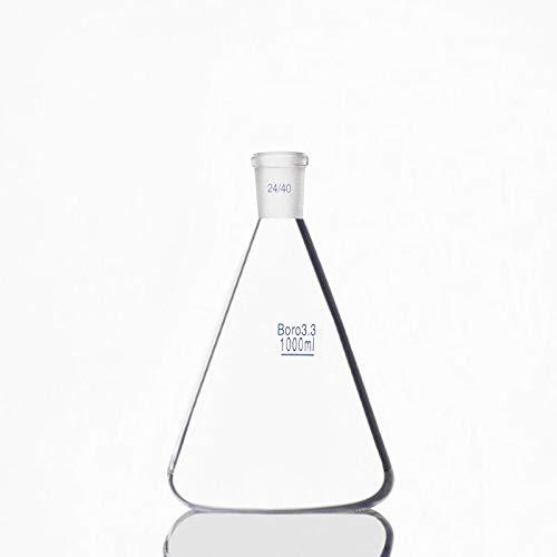 MOUNTAIN MEN 1000 ml del Frasco de Erlenmeyer con la Norma Ground Boca, Conjunta 24/40, borosilicato 3.3 Glass, Laboratorio de Química Lab Erlenmeyer Flask (Capacity : 1000ml)