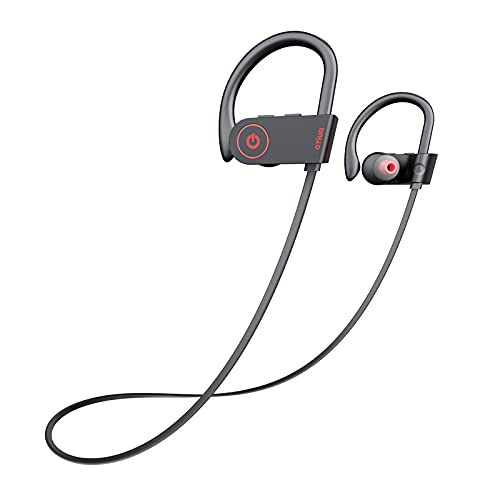 Bluetooth Headphones,Wireless Earbuds IPX7 Waterproof Sports Earphones with Mic HD Stereo Sweatproof in-Ear Earbuds Gym Running Workout 8 Hour Battery Noise Cancelling Headsets