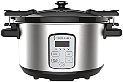 TaoTronics 6-Quart Slow Cooker, Programmable Slow Cooker, with Digital Countdown Timer, Delay Start, LCD Display, for Family Dinner, Batch Cooking