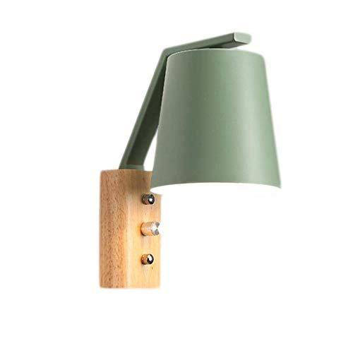 IW..HLMF Lámparas de Pared, lámpara de Dormitorio Cleanlamp Lámpara de cabecera Sala de Estudio Pasillo Pasillo Arte Creativo Moderno Simple Lámparas de Lavado de Pared (Color: Verde)