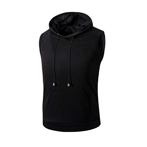 Herren Hoodies, ärmellose Plain Men Hoodie Sweatshirts Mit Taschenelastizität Baumwolle 5XL Weste Base Oder Outside Wear Herren Hooded Pullover